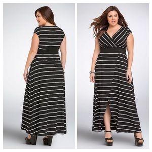 TORRID Striped Surplice Slit Maxi Dress (2X)